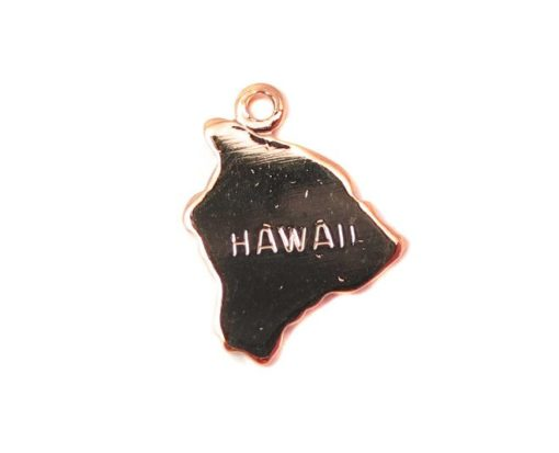 rose gold plated Hawaii state charms