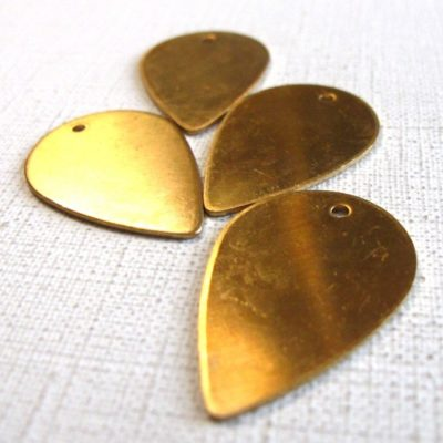 Raw Brass Flower Petal Engraving Pad Charms