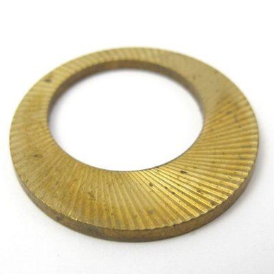 Vintage Brass Circle Hoop Pendant