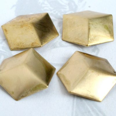 Brass Geometric Square Cube Charms