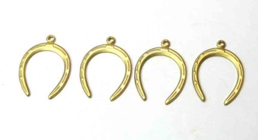 Brass Horseshoe Charms