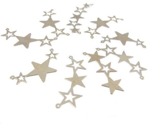 rhodium plated star pendants