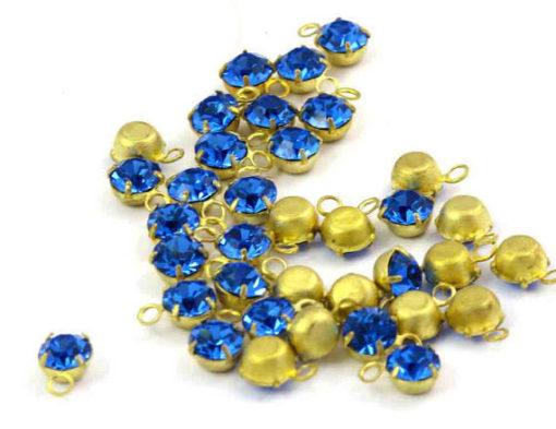 Swarovski crystal blue drop charm