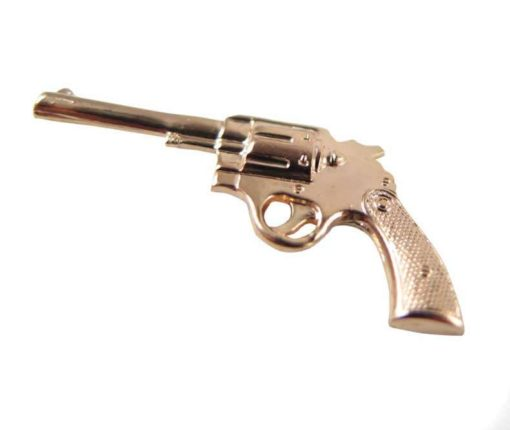 Large Rose Gold Plated Pistol Gun Charms
