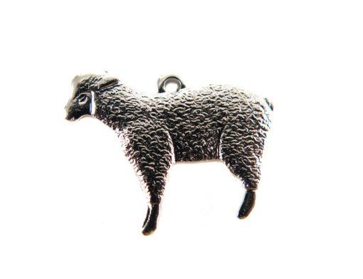 Rhodium Plated Lamb Sheep Charms