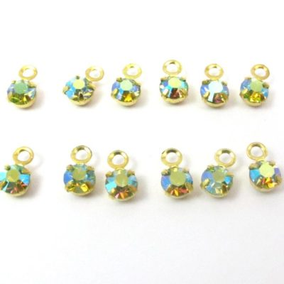 rainbow Swarovski charms