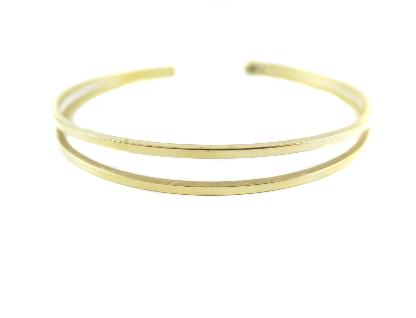 Square Wire Double Band Cuff Bracelet - Brooklyn Charm