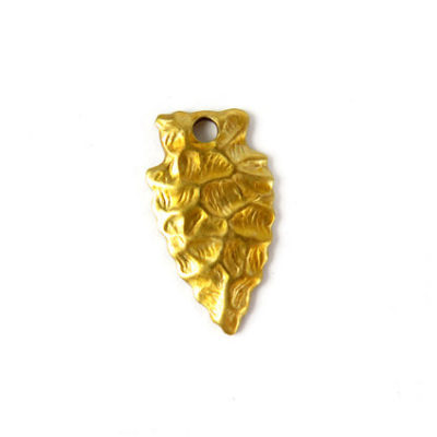 Brass Arrowhead Charms