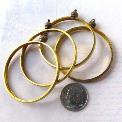 Brass Coin Holder Pendants