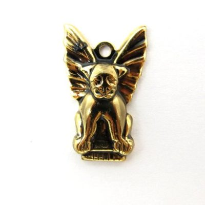 vintage gold plated gargoyle charms