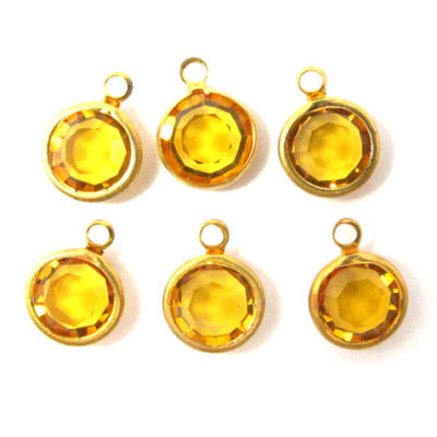 vintage topaz Swarovski channel charms