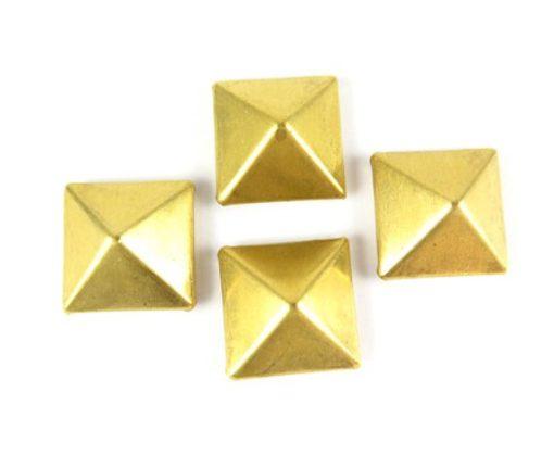 brass 3d pyramid charms