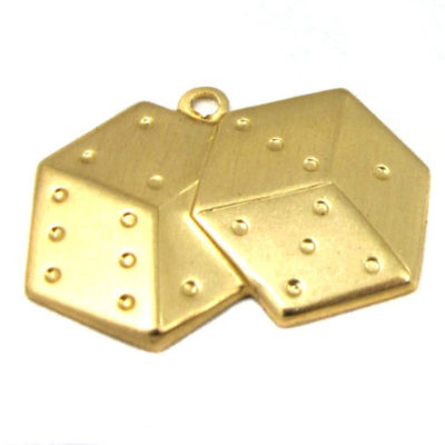 brass dice charms