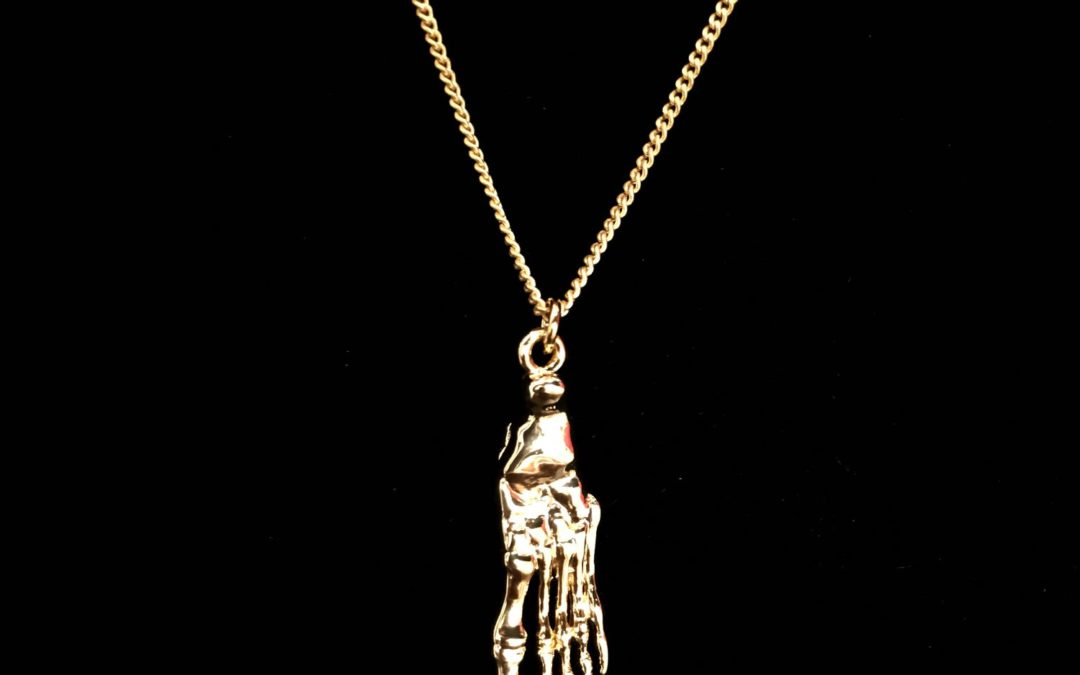 Skeletal Foot Necklace – Select Your Finish!