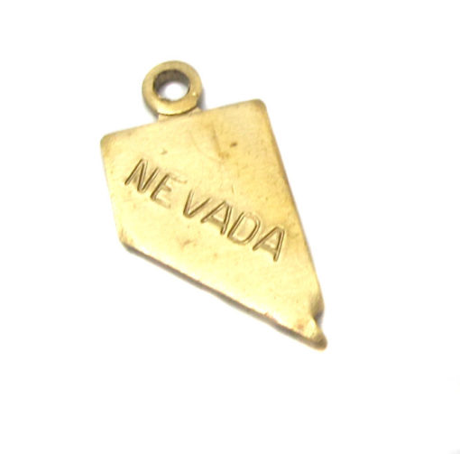 Tiny Raw Brass Nevada State Charms
