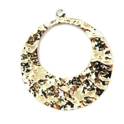 gold plated textured teardrop charms
