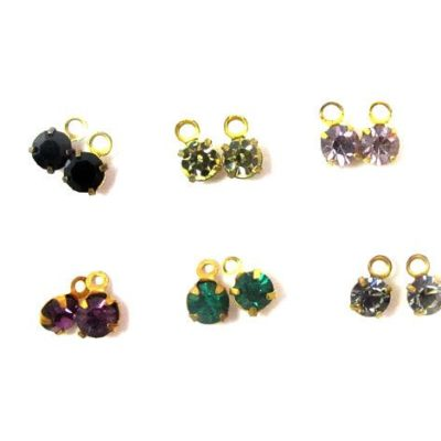 Assorted color Swarovski crystal charms