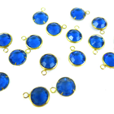 blue swarovki crystal channel charms capri blue crystal