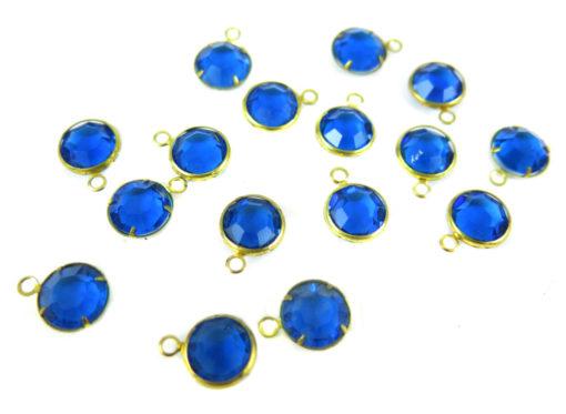 blue swarovki crystal channel charms capri blue crystal