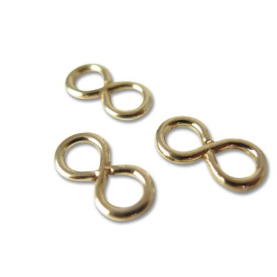 Vintage Plated Infinity Connector Charms