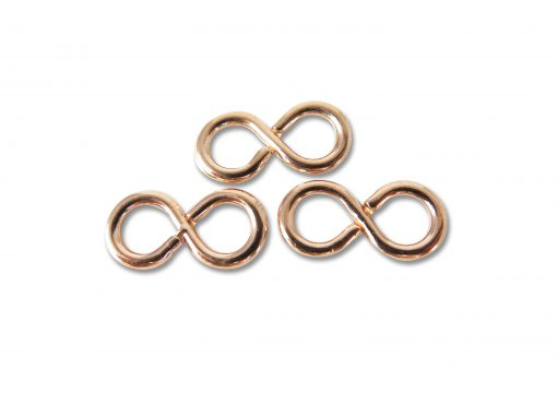Vintage Rose Gold Plated Infinity Connector Charms
