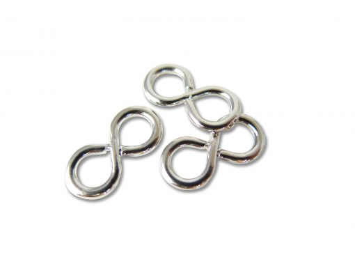 Vintage Rhodium Plated Infinity Connector Charms