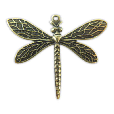 Antiqued Brass Dragon Fly Charms