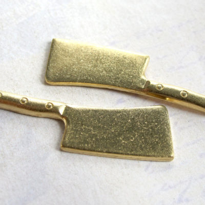 Brass Meat Cleaver Engraving Charms