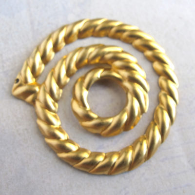 brass spiral rope pendants