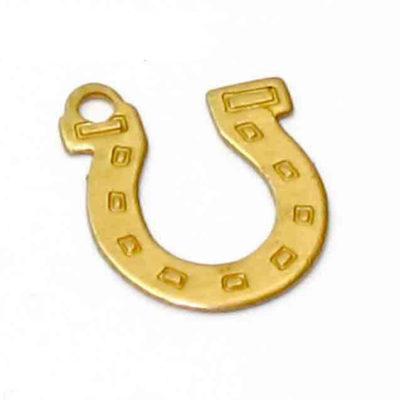 Brass horseshoe charm flat