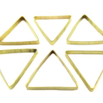 Raw Brass Geometric Triangle Charms