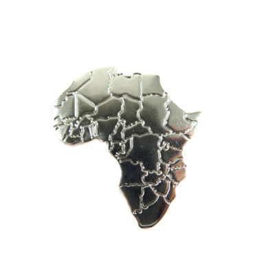 rhodium plated Africa pendants