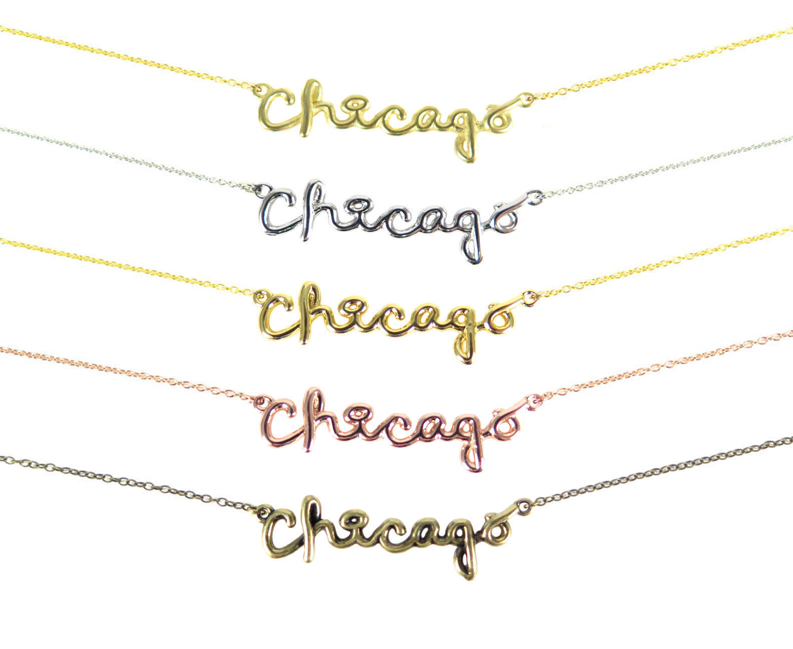 Rose gold plated chicago wire name pendant 1x k621 d brooklyn rose gold plated chicago wire name pendant 1x k621 d aloadofball Images