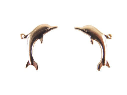 Rose Gold Plated Dolphin Charms - Left & Right Facing