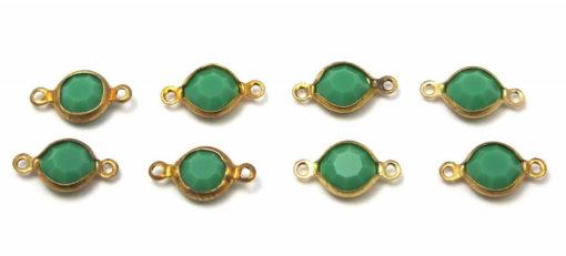 emerald green Swarovski connector charm