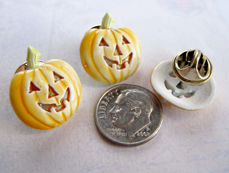 Vintage Pumpkin Enamel Pin