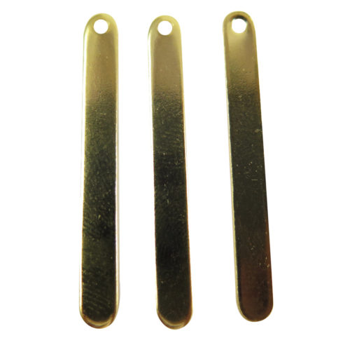 18k Gold Plated Engraving Oval Stick Charms