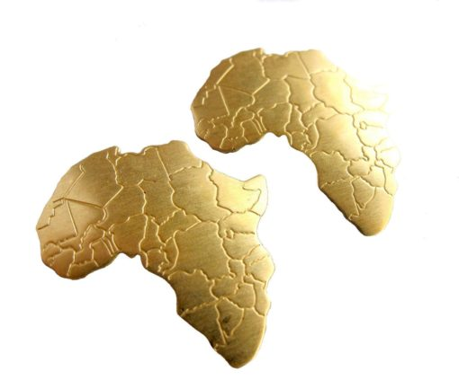 brass Africa pendants