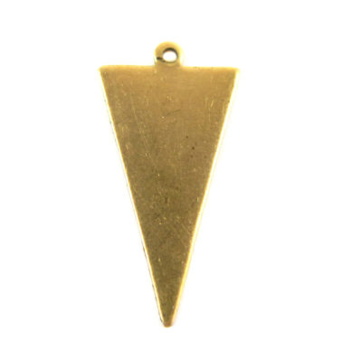 Brass Chevron Upside Down Triangle Engraving Charms