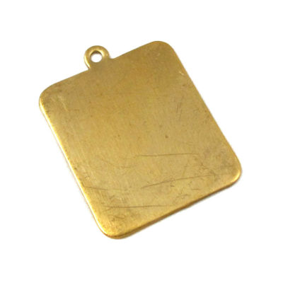 Brass Rectangle Engraving Pad Charms