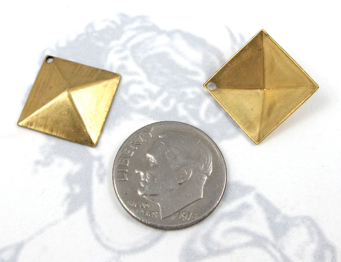 mini evan gold yellow pyramid diamond yw ring stud sydney