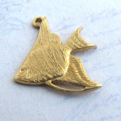 Brass Tropical Fish Charms
