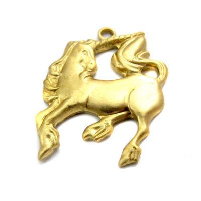 Brass Unicorn Charms