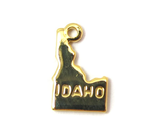 gold plated Idaho state charms