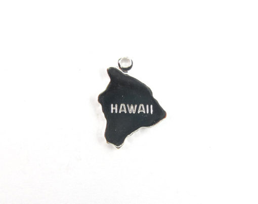 silver plated Hawaii state charms