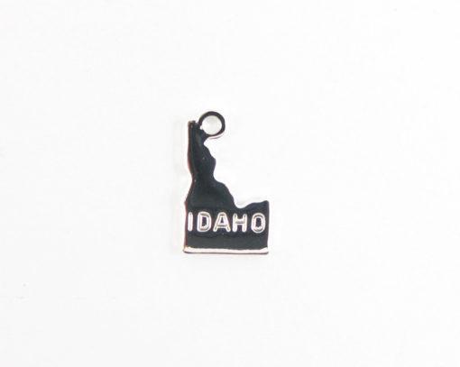 rhodium plated Idaho state charms