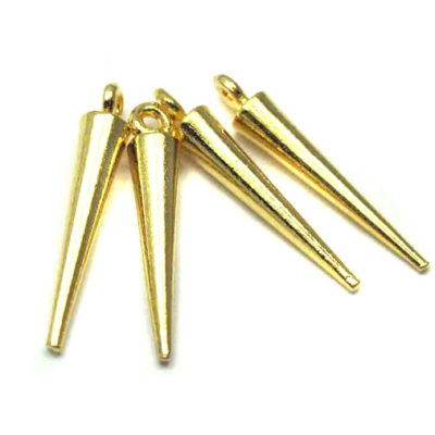 gold plated spike charms