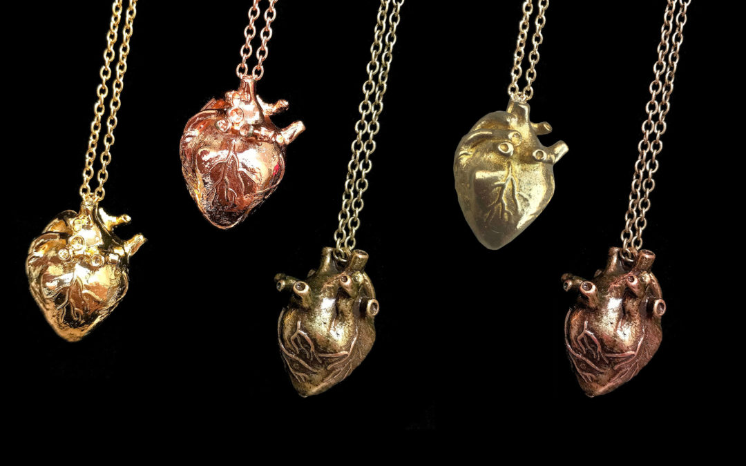 Three Dimensional Anatomical Heart Necklace – Select Your Finish!