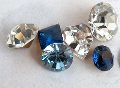blue and clear Swarovski rhinestones