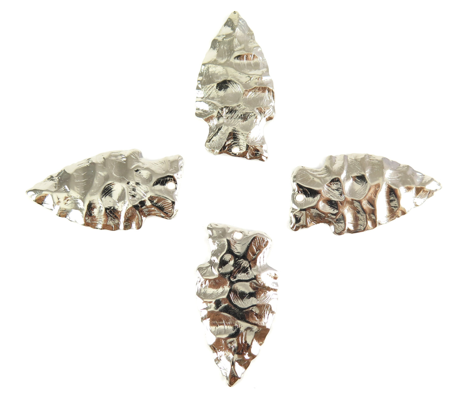 Large rhodium plated arrowhead pendants 2x m650 b brooklyn charm large rhodium plated arrowhead pendants 2x m650 b aloadofball Choice Image